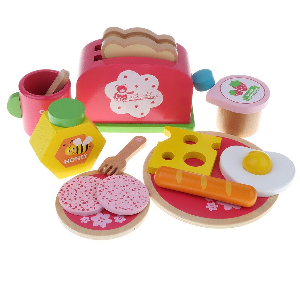 Pretend Play Kitchenware Baby Fun Simulation Kitchen Breakfast Bread Toy Set