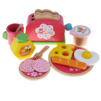 Pretend Play Kitchenware Baby Fun Simulation Kitchen Breakfast Bread Toy Set