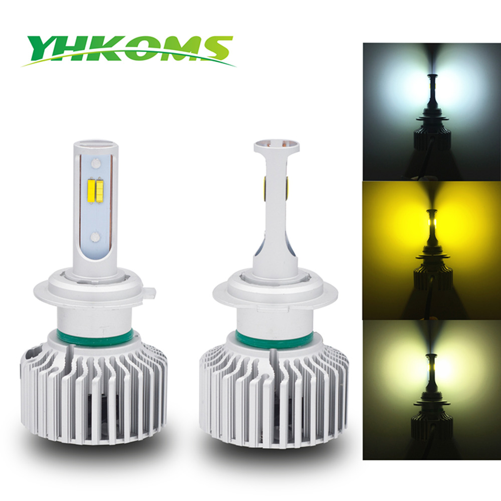 YHKOMS H7 LED H8 H11 H1 H3 H9 9004 HB3 9006 HB4 880 881 H27 3000K 6000K 4300K Auto Bulb 80W 8000LM LED Car Headlamp Fog Light auto headlight h1 led lamp with csp 6000k 35w 12 volt 880 881 h27 bulb led lampada car accessory kit led h1 360 diode head light