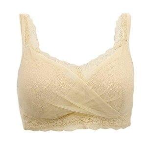 Image 3 - Falso sutiã de mama mastectomia sutiã silicone peito falso capa insertable respirável sem anel de aço cinza sutiã c copo d30