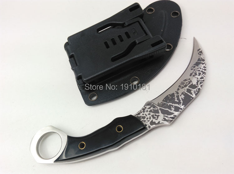 Outdoor tactics camping  karambit knife fixed blade with plastic cover Hunting Knives  Survival scorpion claw knifes grain blade straight knife tool the outdoor one doomsday boar claws scorpion claw knife lifesaving claw knife