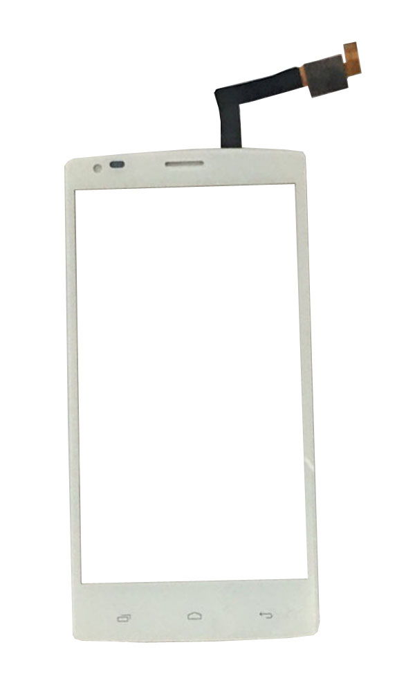 High Quality For Fly IQ4505 Quad Era Life 7 IQ 4505 Touch Screen Digitizer White Black Color With Tape 1PC/Lot.