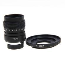 Fujian 25mm f1.4 cctv lente filme + c monte a canon eos m mirrorless câmera m2 m3 m5 m6 m10