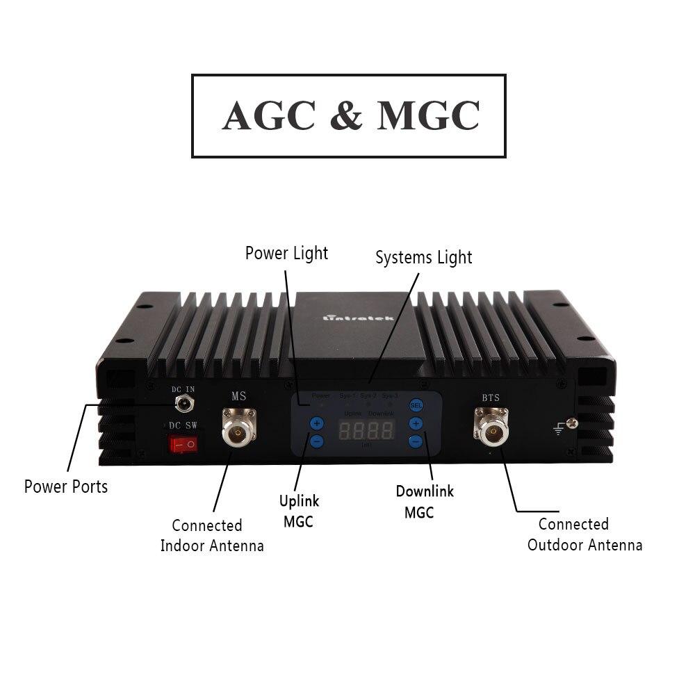 70db Gain 3G amplificateur de Signal de téléphone portable W-CDMA 2100 MHz répéteur de Signal UMTS 2100 répéteur amplificateur de téléphone portable 3G avec AGC MGC * - 5