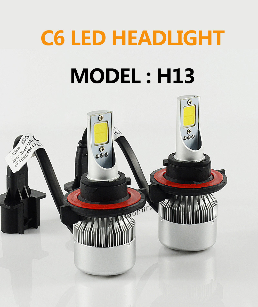 2*72W 7600LM COB H8 H9 H11 led headlights H7 9005 HB3 HB4 9006 H11 H1 H3 880 881 LED headlight bulbs headlamp LED Car headlight