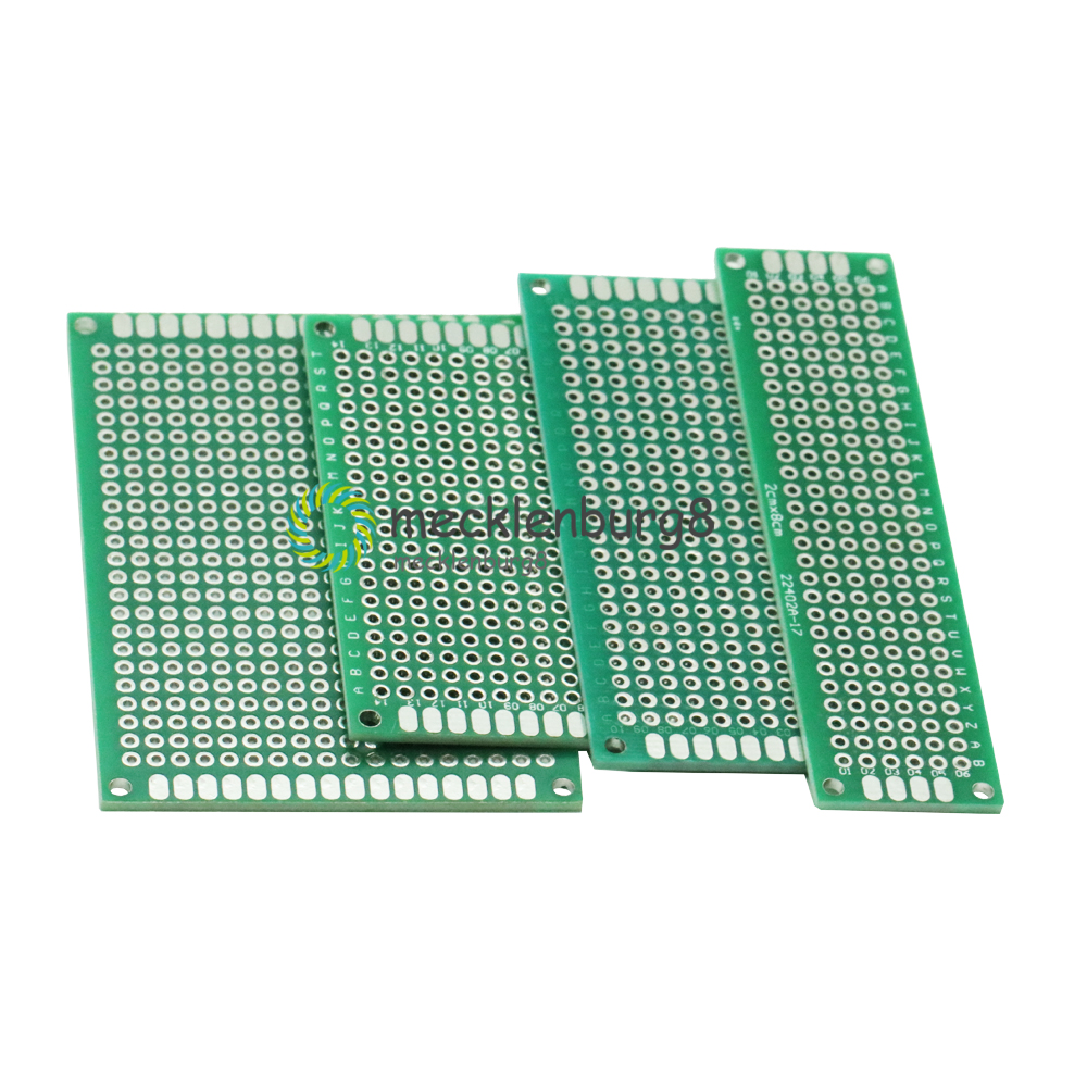 Each 1Pcs 2x8 3x7 5x7 4x6 cm 4Pcs Double-Side Prototype PCB Board