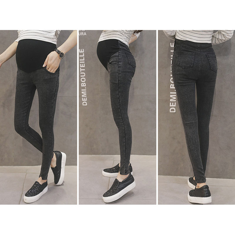 Trousers For Pregnant Women Clothes Elastic Waist Maternity Pants Abdominal Pregnancy Jeans Stretch Leggings Clothing Maternidad
