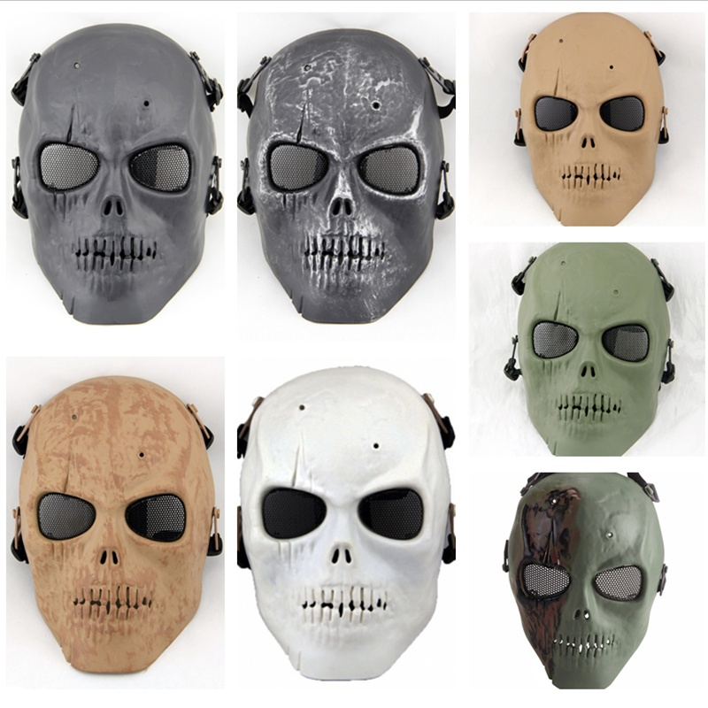 M01 Army Of Two Wire Mesh Skull Military Tactical Outdoor Wargame Paintball Airsoft Full Face Protective Mask Halloween Party