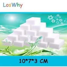 100Pcs 10*7*3CM Magic Sponge Eraser Kitchen Duster Wipes Clean Accessory