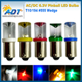 200piece no flickering Pinball 6.3 Volt LED pinball led lights Concave Replacement Bulbs #44 #47 ba9s 906  Wedge Base anti ghost