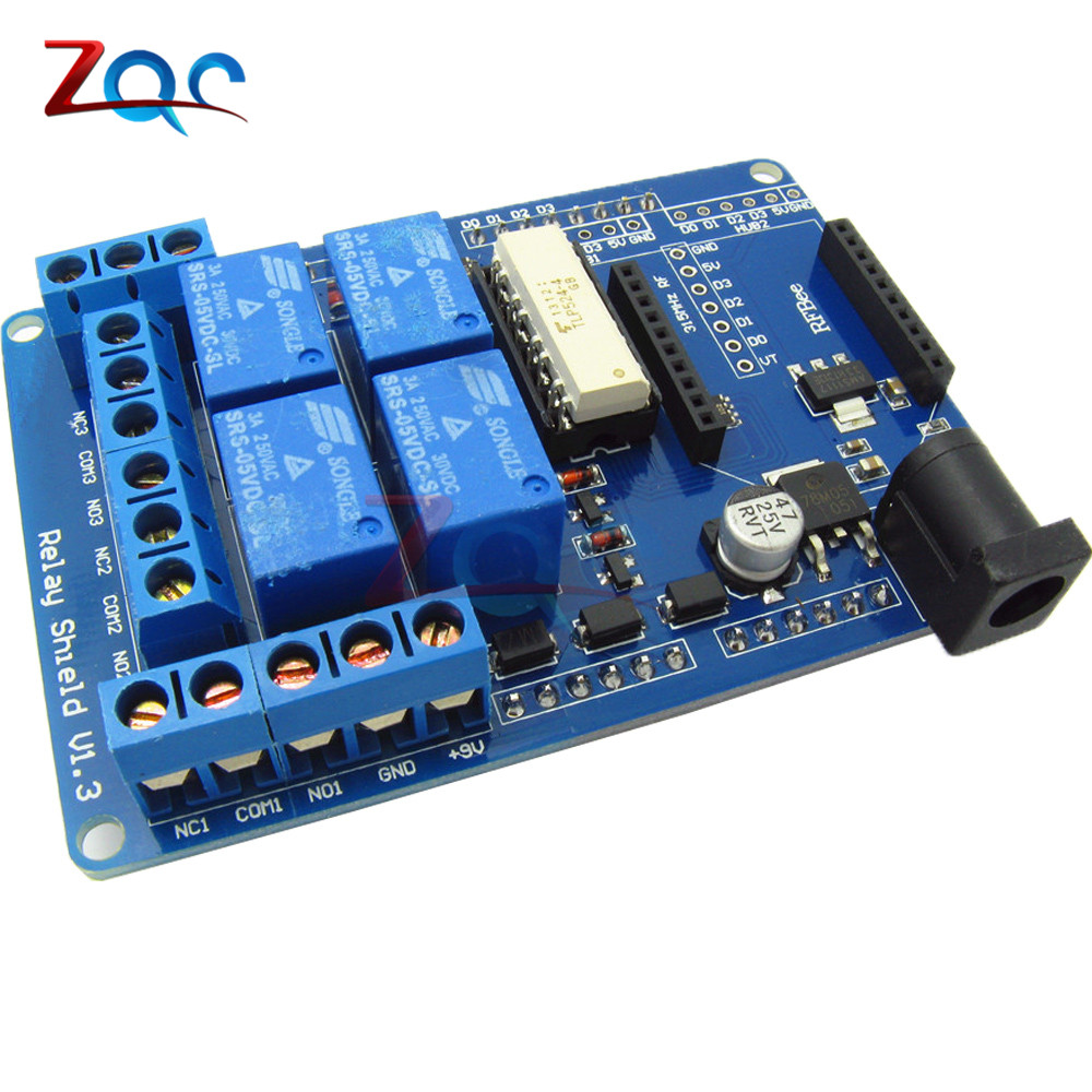 AC 240V 3A 4 Channel Wireless Relay Module Bluetooth Bee Relay Shield Expansion Board Switch For Arduino HomeApp