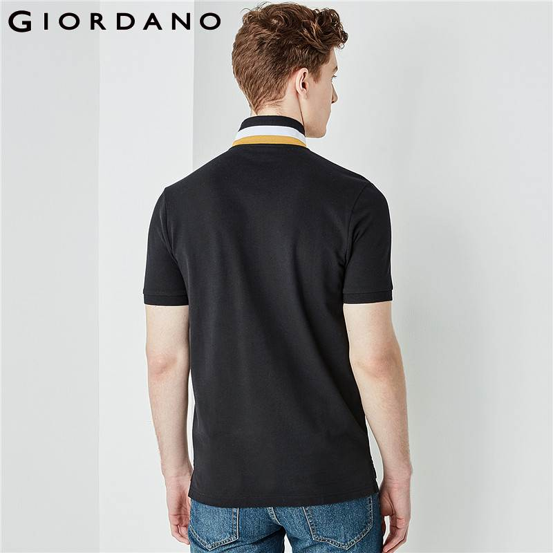 b779be57d052 Giordano Men Polo Shirt Embroidery Polo Men Country Pattern Camisa Polo  Masculina 2018 Summer Polo Hombre Cotton Clothing-in Polo from Men s  Clothing on ...