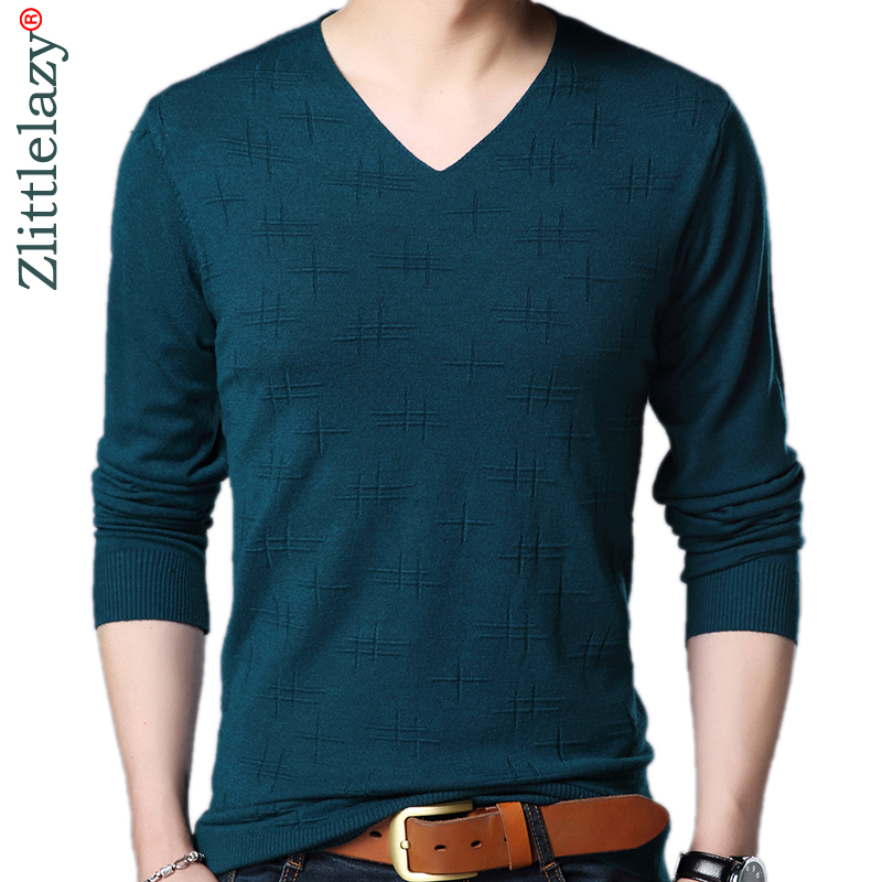 2019 Brand Designer Pullover Solid Men Sweater Dress Jersey Knitted Sweaters Mens Wear Slim Fit Knitwear Fashion Clothing 3106