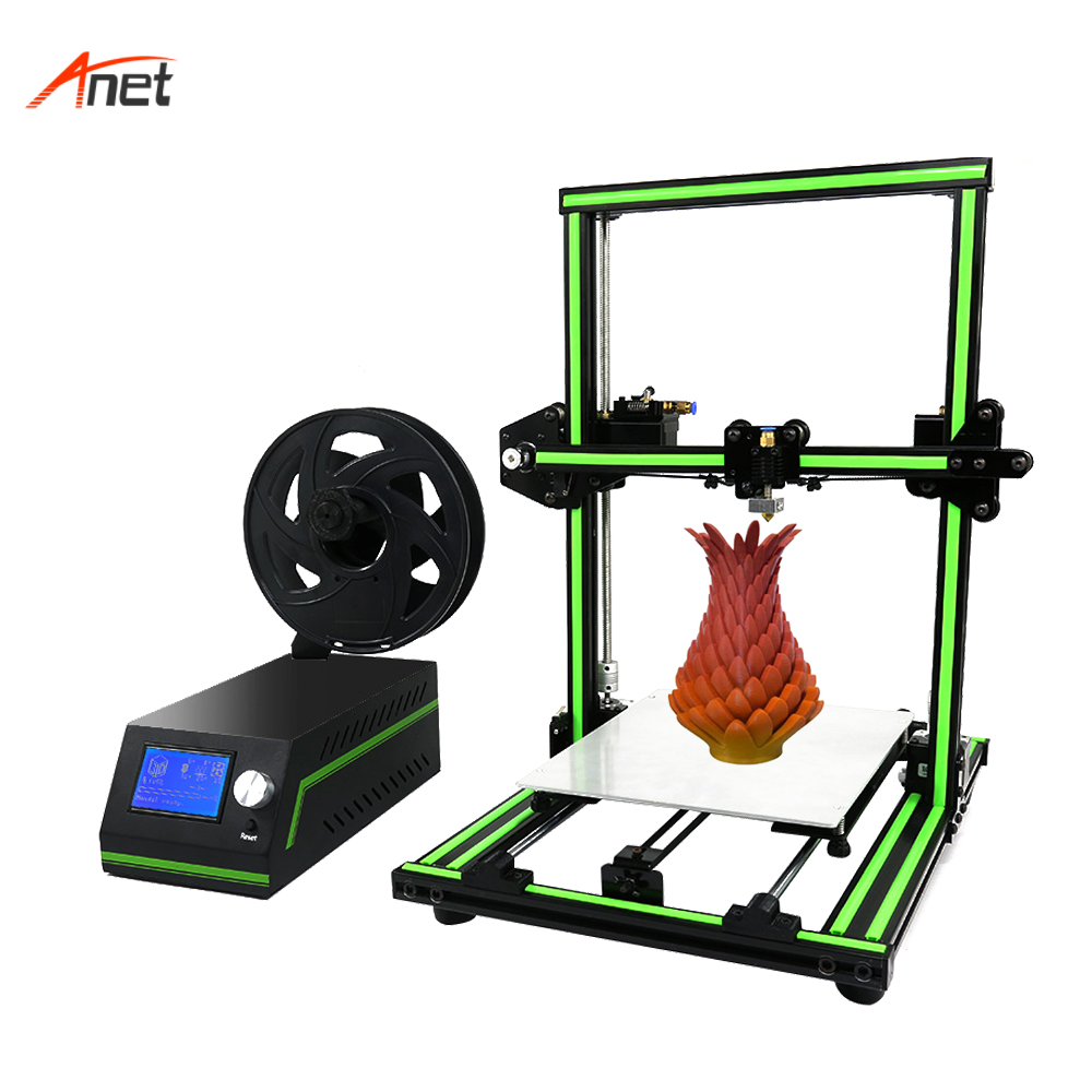 Anet E10 New Factory Desktop 3D Printer Raprap i3 Aluminum Frame DIY Kit 3D Printer With Large Printing Size Impressora 3d zonestar newest full metal aluminum frame big size 300mm x 300mm auto level laser engraving run out decect 3d printer diy kit