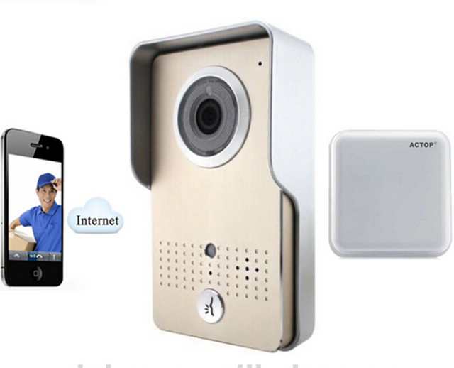 Wireless WiFi IP HD Video Doorphone Door Bell Intercom System Aluminium alloy Weatherproof support WIFI/3G/4G Phone Record Video