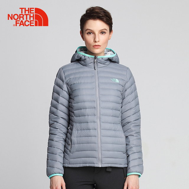 85b63bdf779 The North Face grey goose down jacket for women thermal confortable hooded  coats reversible light wear resistant clothes 3KTM