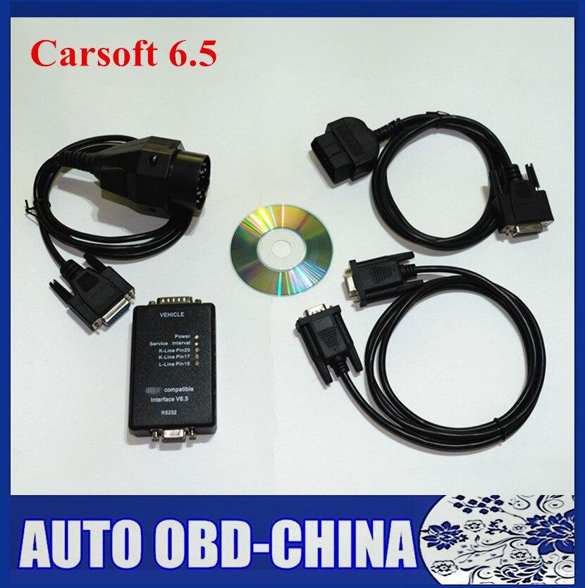 Цена за Лучшие Авто Профессиональный Диагностический Инструмент Для BMW Carsoft 6.5 OBD2 Код Сканер