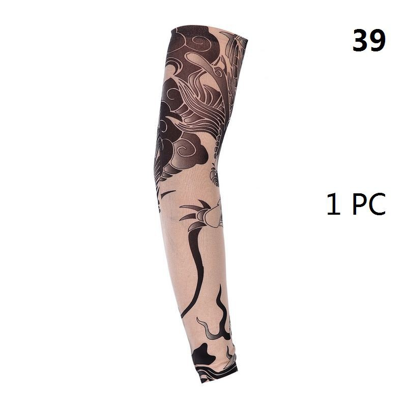 2019 New Fashion Tattoo Sleeves Arm Warmer Unisex UV Protection Outdoor Temporary Fake Tattoo Arm Sleeve Warmer Sleeve Mangas in Men 39 s Arm Warmers from Apparel Accessories