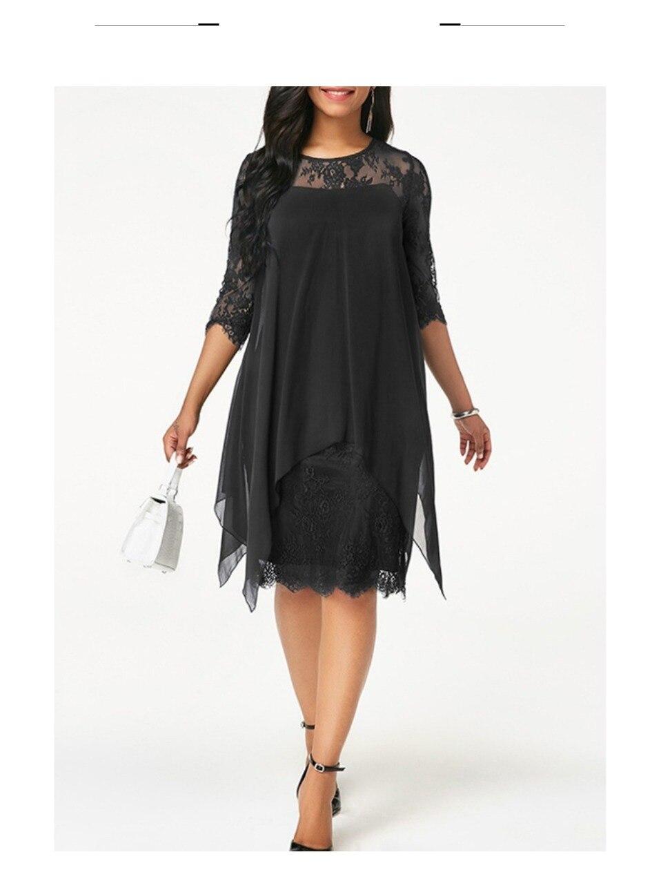 43bd9e8403 Flash Sale] Plus Size Chiffon Dresses Women New Fashion Chiffon ...