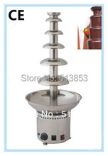 catering 110V 6 tiers Commercial stainless steel chocolate fountain free ship