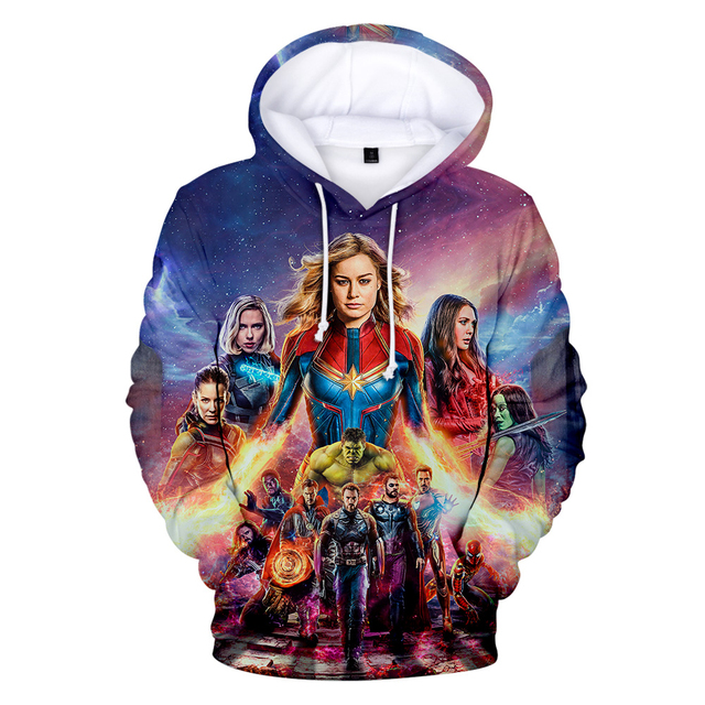 Avengers Endgame Quantum Realm Sweatshirt with hooded Advanced Tech Hoodie Cosplay Costumes 2019 new superhero Iron Man Hoodies 3
