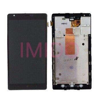 Dla Nokia Lumia 1520 RM-937 RM-940 wyświetlacz LCD + ekran dotykowy Digitizer montaż + części wymienne do ramy