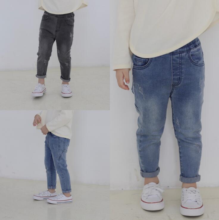 2019 new arrival girls  boys  denim pants autumn  fashion kids jean pants 1-7t HU580(China)