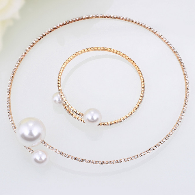 Fashion Simulated Pearl Bridal Jewelry sets For Women 26