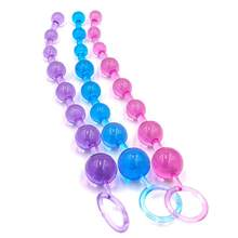 Jelly Anal Beads Orgasmo Vagina Plug Jogue Puxe Bola Anel Estimulador Anal Beads Bundas(China)