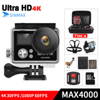 Ultra HD 4K Wifi OEM H9R Action Camera 4k 30fps Dual Screen 2 0 LCD Go
