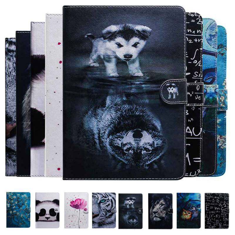 Mediapad T5 Smart Cover Panda Tiger Lion Flip Wallet Leather Case  For Huawei Mediapad T5 10 AGS2-W09/L09/L03/W19 10.1