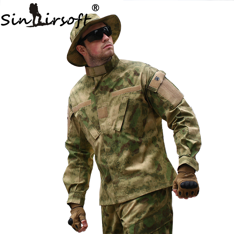 SINAIRSOFT Military Tactical Cargo Pants Uniform Waterproof Camouflage Military BDU Combat Uniform US Hunting Clothing Set men combat field shirt long cargo pant hunting airsoft ghillie suit camouflage clothes military bdu tactical uniform set