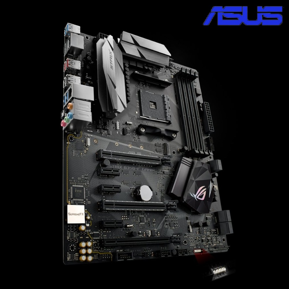 ASUS ROG STRIX B350-F GAMING Desktop Motherboard B350 Socket DDR4 8G SATA3 USB3.1 Micro-ATX Mainboard With RGB LED Effect asus rog strix b350 f gaming motherboard republic of gamers amd b350 socket am4 desktop motherboard