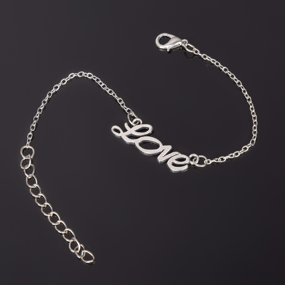 Simple Style Silver Plated Charm Bracelet Jewelry Gift Wedding Banquet Wholesale Top Quality 1 D2 8
