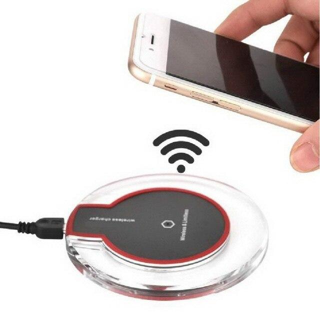 Universal Qi Chargeur Sans Fil Pad pour Apple iPhone 5 5S 6 6 S 7 Plus Samsung S7 S6 Edge Mobile Téléphone Charge Adaptateur De Charge Dock