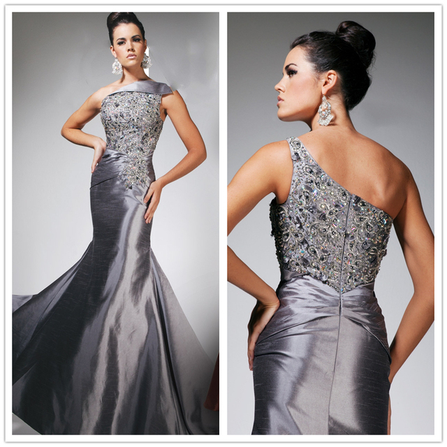 Vestido Longo Sereia 2014 Luxury Crystal Beaded Mermaid Evening ...