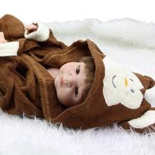 Handsome 23 Inch Reborn Baby Boy Realistic Lifelike Newborn Dolls With Pajamas Children Birthday Xmas Gift