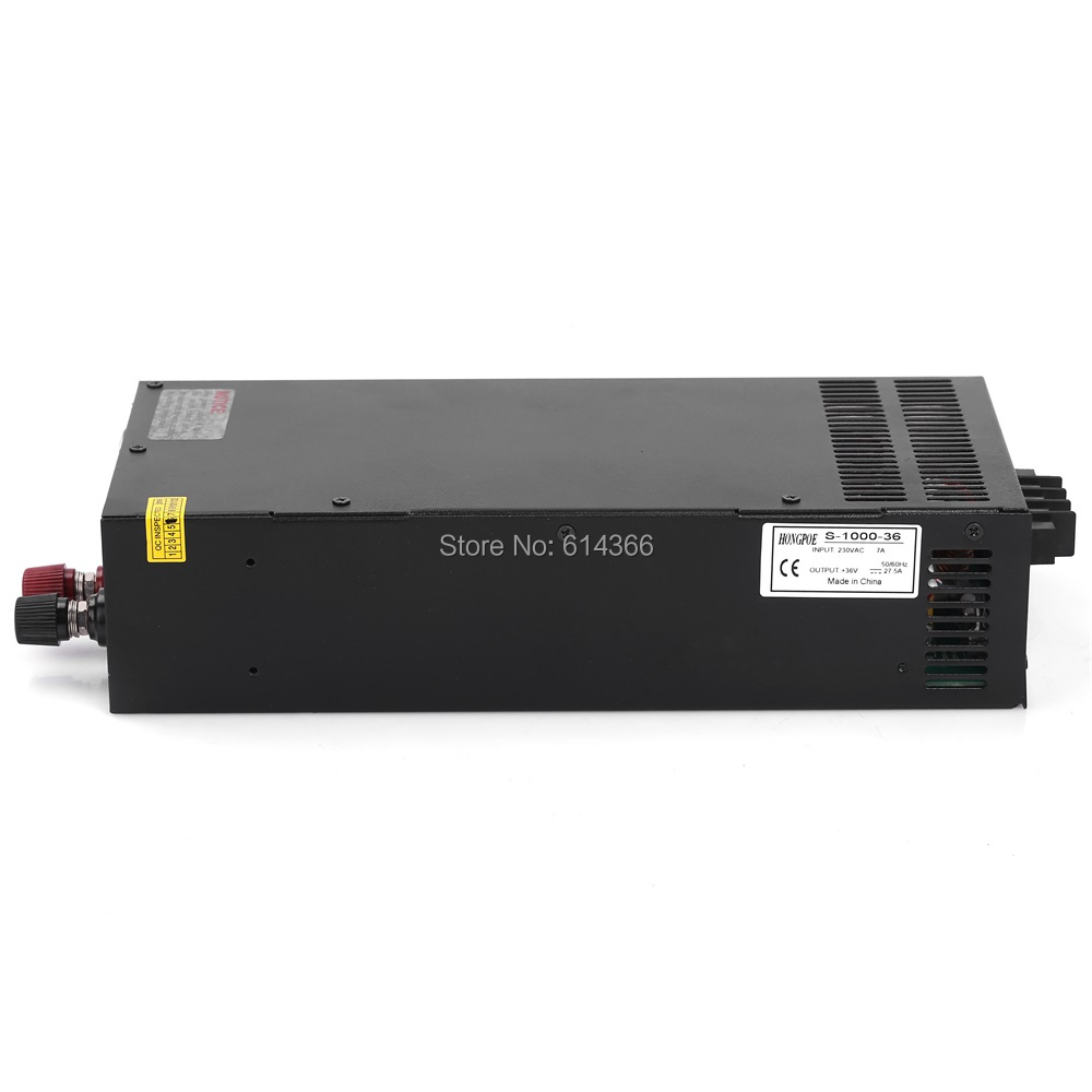 1PCS 36V 27.5A 1000W Switching Power Supply 36V 27.5A Driver for CCTV camera LED Strip AC-DC 36V Power Supply S-1000-36 ac dc 36v ups power supply 36v 350w switch power supply transformer led driver for led strip light cctv camera webcam