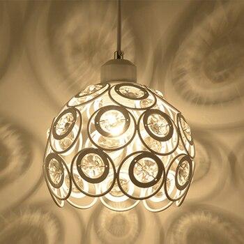 Ferro moderno luzes pingente de cristal estilo europeu e27 led 220 v pingente lâmpadas para sala estar cozinha quarto estudo restaurante