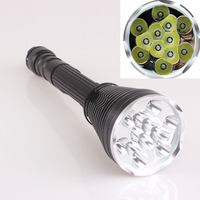 OEM TrustFire 13000 Lumen 12x CREE XM L 5 Mode 12T6 LED Flashlight power by 18650 / 26650 battery rechargeable Torch Light Lamp