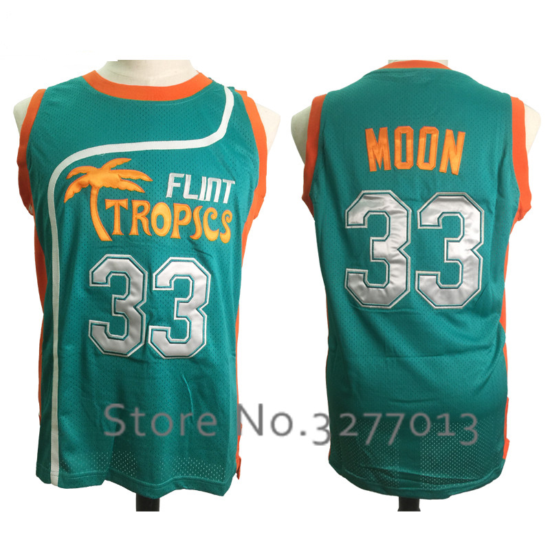 2018 Cheap Mens Jerseys Jackie Moon  33 Jersey Semi Pro Flint Tropics  Basketball Shirts Embroidery Throwback Basketball Jerseys f91ebf5ce