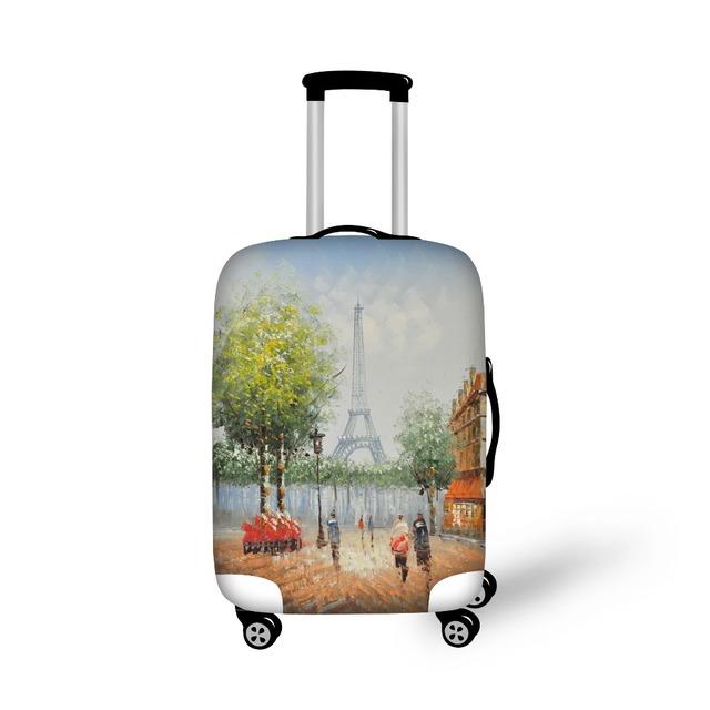 Personalizado Torre Eiffel Impressão Bagagem Do Curso de Proteção Capas para 18-30 Polegada Mala Bagagem Elástica Cobre Bagagem Acessórios
