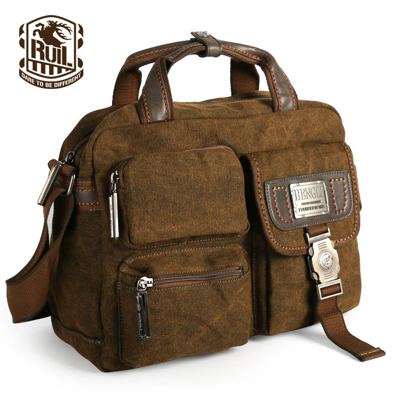Ruil Multifunction Men's Retro Briefcase 2017 canvas bags Leisure Toolkit Package orion 80g