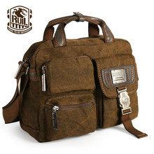 Ruil Multifunction Men's Retro Briefcase 2017 canvas bags Leisure Toolkit Package