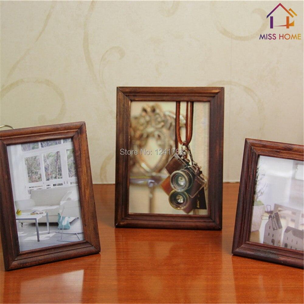 3 unids/set ) madera marcos de fotos DIY marcos de cuadros en Color ...