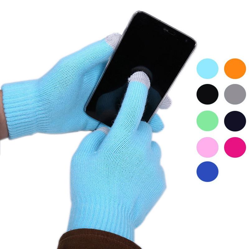 2016 модные трикотажные Прихватки для мангала женский Сенсорный экран зима теплая наручные Прихватки для мангала варежки touch Прихватки для м...
