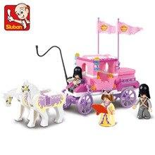 Bloques Sluban Serie de Amigos para Niñas Juguete Carro Carro de la Princesa Real Compatible con todos los Bloques