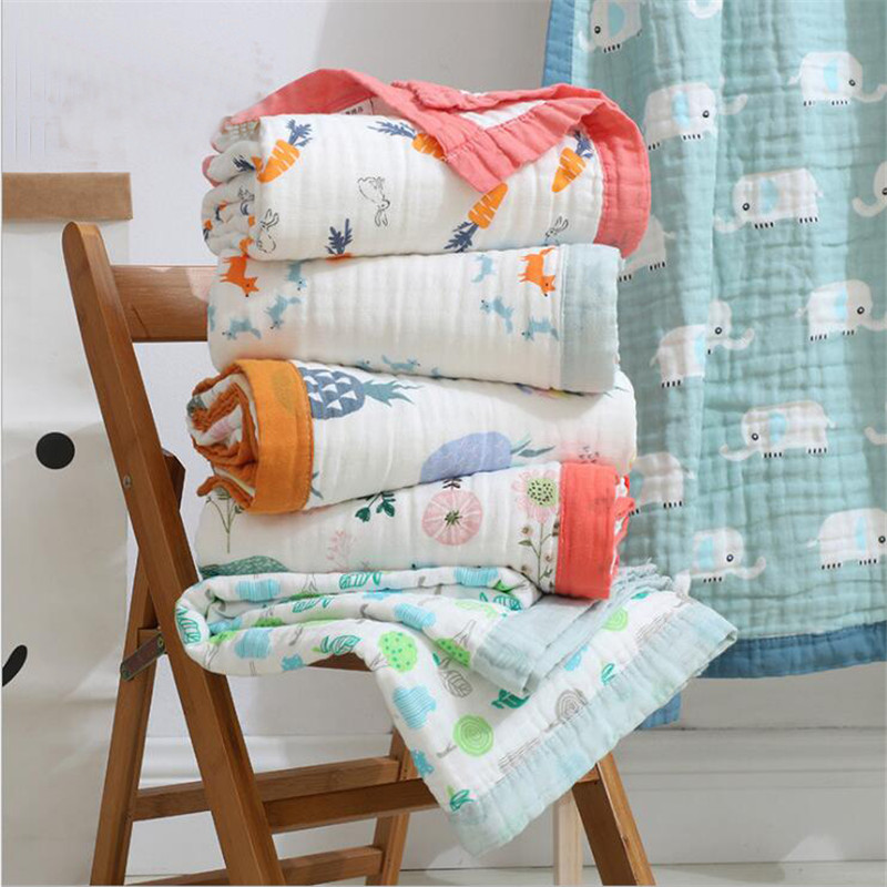 29 Style Baby Blanket Muslin Cotton 6 Layers Newborn Swaddling Autumn Baby Warp Swaddle Blanket Infant Bedding Receiving Blanket