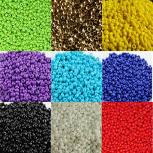 16g 1000pcs 2mm Solid Color Opaque Round Garment Beads Loose Spacer Cezch Glass Seed Handmade Jewelry DIY Making Bead CS2M