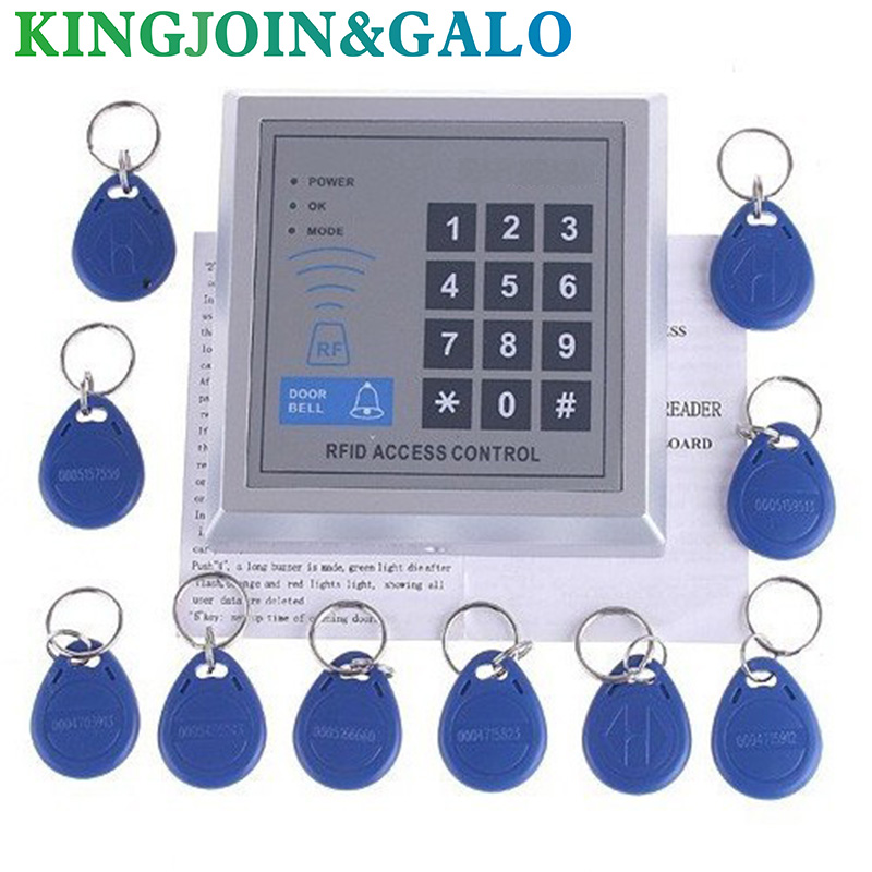 Security RFID Proximity Entry Door Lock Access Control System 3000 User +10 RFID Keyfobs with English user manual security rfid proximity entry door lock access control system 10 keys